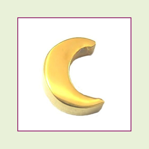 Moon (Gold) Stainless Steel Floating Charm