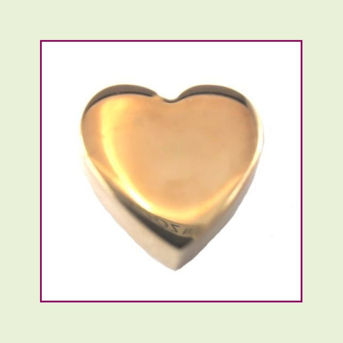 Heart (Rose) Stainless Steel Floating Charm
