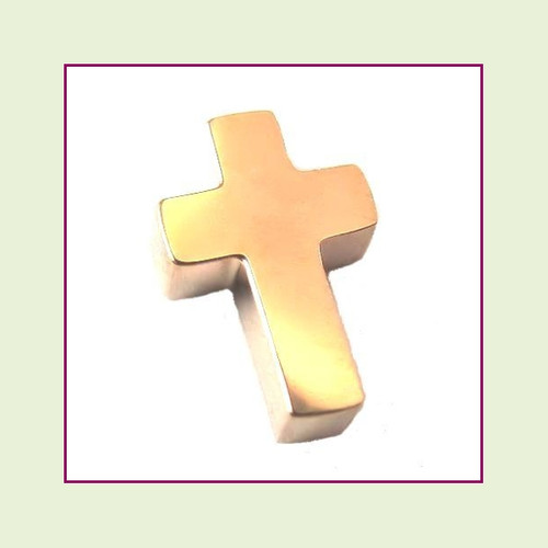 Cross (Rose) Stainless Steel Floating Charm