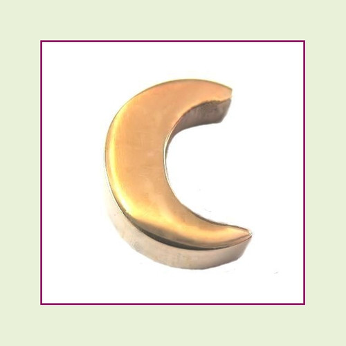 Moon (Rose) Stainless Steel Floating Charm