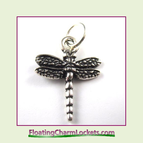 O-Ring Charm:  Dragonfly (Silver) 16x17mm