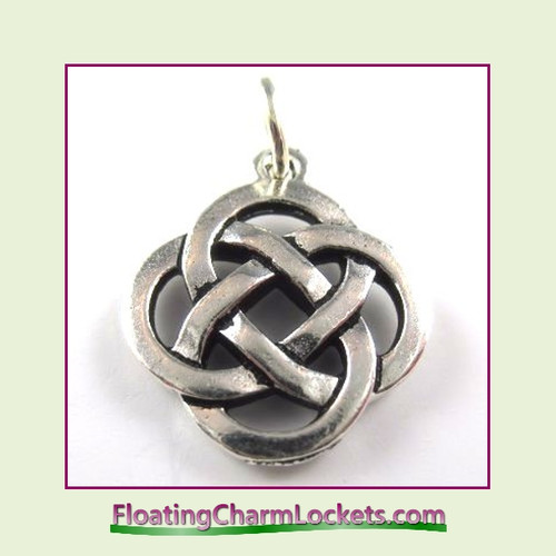 O-Ring Charm:  Celtic Round (Silver) 18x18mm
