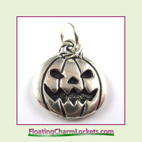 O-Ring Charm:  Pumpkin (Silver) 15x17mm
