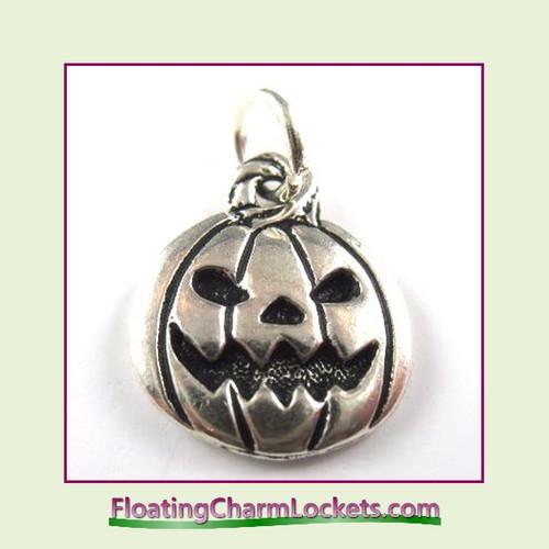 O-Ring Charm:  Pumpkin (Silver) 15x17mm