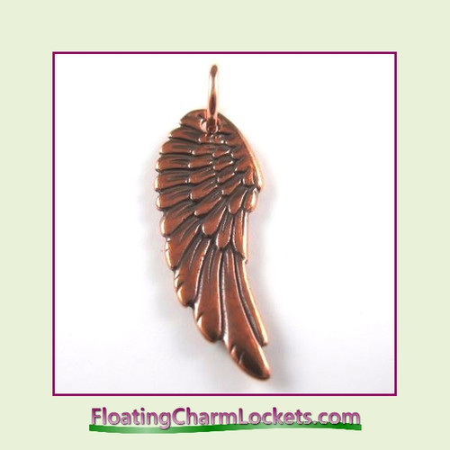 O-Ring Charm:  Angel Wing (Rose) 11x27mm
