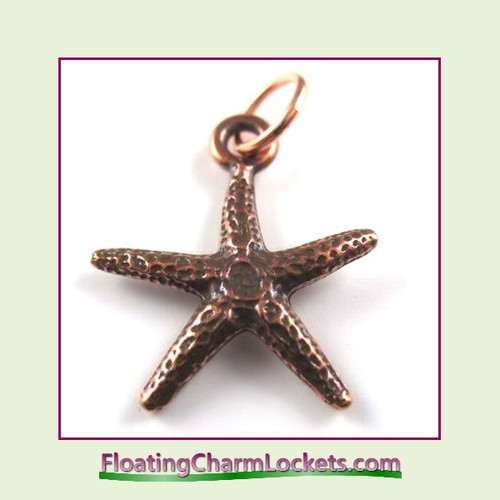 O-Ring Charm:  Starfish (Rose) 19x19mm