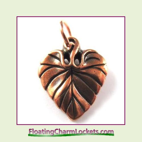 O-Ring Charm:  Leaf (Rose) 15x20mm