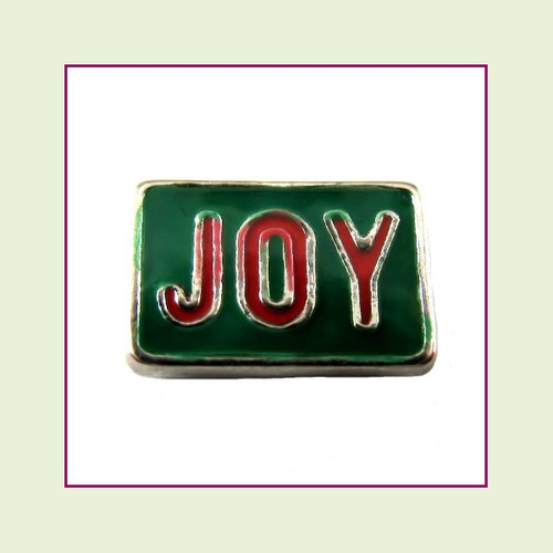 Christmas Joy  (Silver Base) Floating Charm