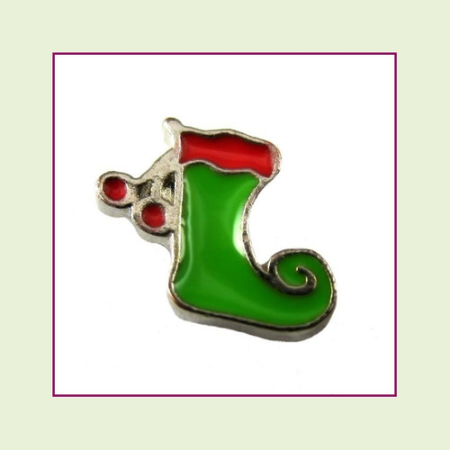 Christmas Stocking with Tassle (Silver Base) Floating Charm