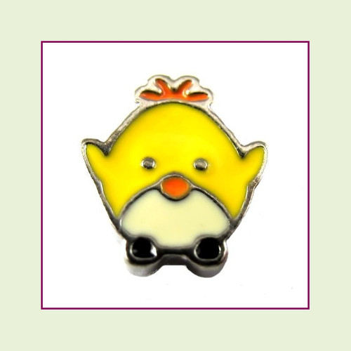 Easter Chick Cute (Silver Base) Floating Charm