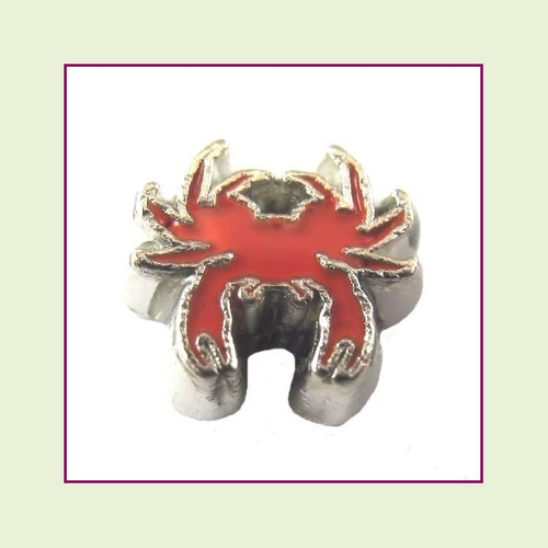 Crab Red (Silver Base) Floating Charm