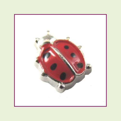 Ladybug Red (Silver Base) Floating Charm
