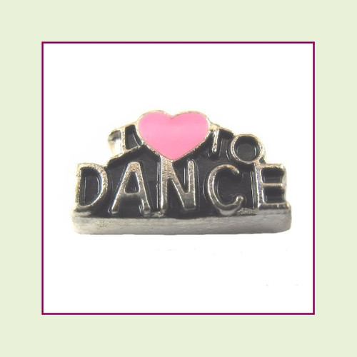 I Love to Dance Silver Floating Charm