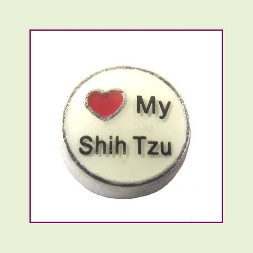 Love My Shih Tzu (Silver Base) Floating Charm