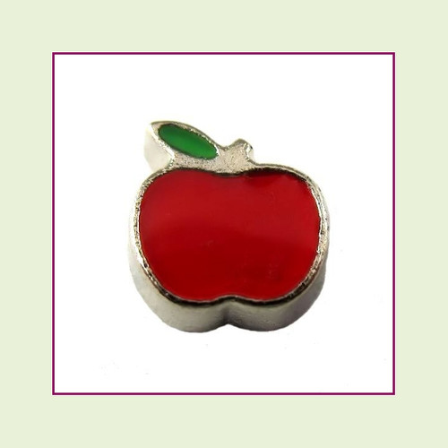 Apple (Silver Base) Floating Charm