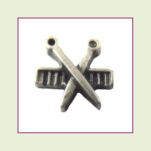 Comb and Scissors (Pewter) Floating Charm