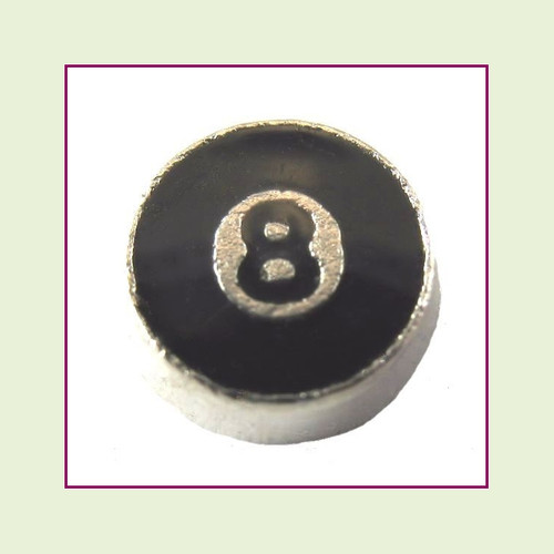 Eight Ball (Silver Base) Floating Charm