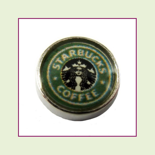 Coffee Shop (Silver Base) Floating Charm