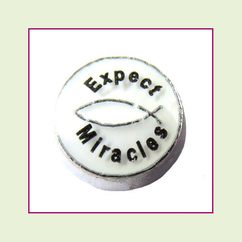 Expect Miracles (Silver Base) Floating Charm