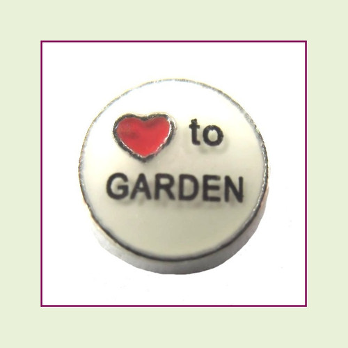 Love To Garden (Silver Base) Floating Charm