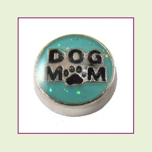 Dog Mom (Silver Base) Floating Charm