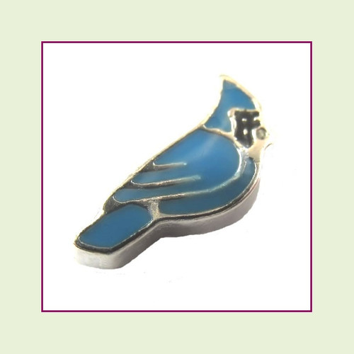 Blue Bird (Silver Base) Floating Charm