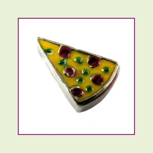 Pizza Slice (Silver Base) Floating Charm