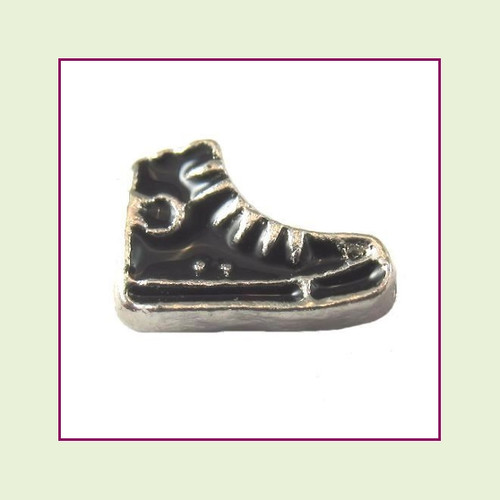 Sneaker Black (Silver Base) Floating Charm