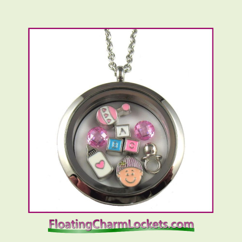 FCL Designs® Baby Girl Theme Floating Charm Locket