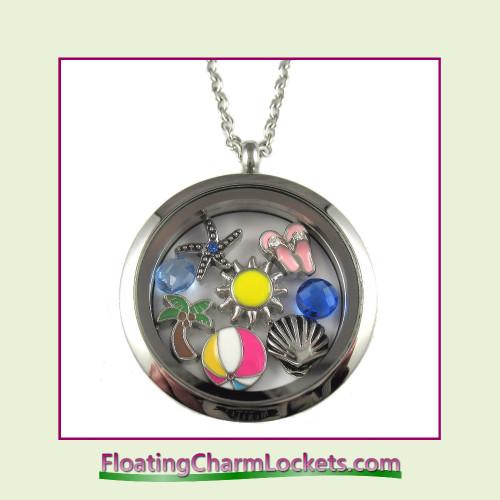 FCL Designs® Beach Theme Floating Charm Locket