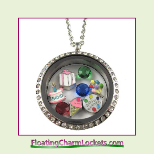 FCL Designs® Birthday Theme Floating Charm Locket
