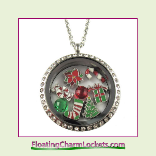 FCL Designs® Christmas #1 Theme Floating Charm Locket