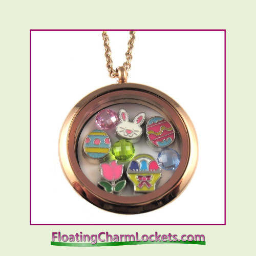 FCL Designs® Easter (Rose) Theme Floating Charm Locket