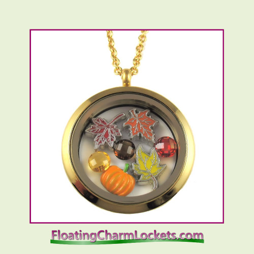 FCL Designs® Fall Theme Floating Charm Locket