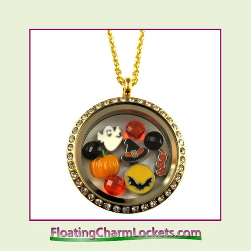 FCL Designs® Halloween Theme Floating Charm Locket