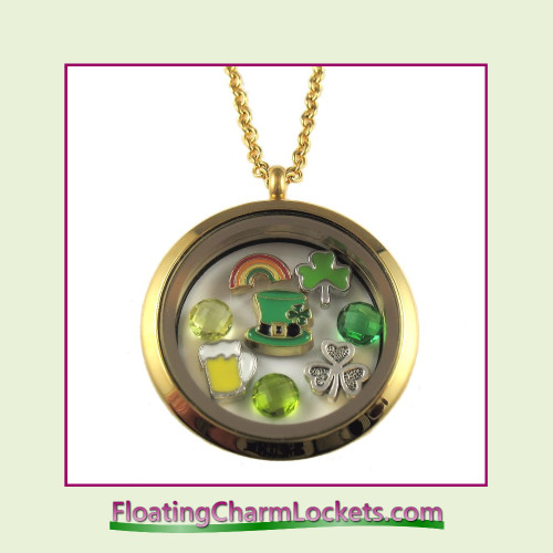 FCL Designs® Saint Patrick's Day Theme Floating Charm Locket