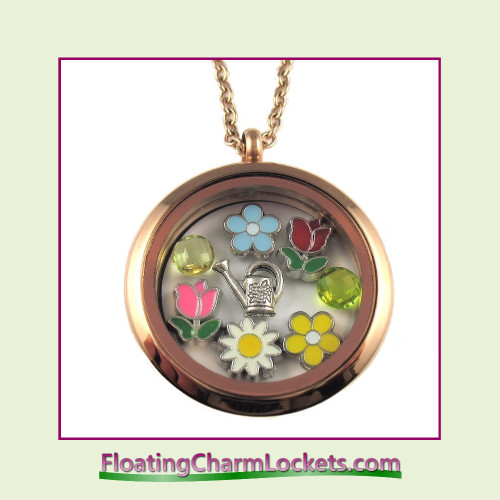FCL Designs® Spring (Rose) Theme Floating Charm Locket