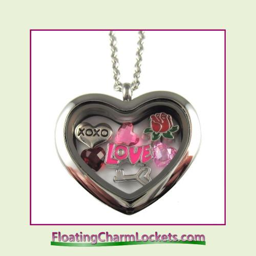 FCL Designs® Valentine's Day Love Theme Floating Charm Locket