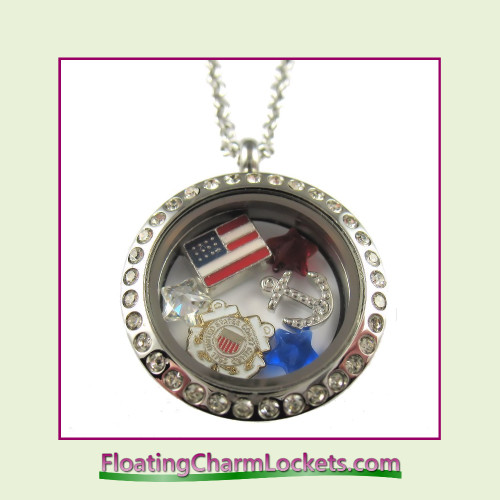 FCL Designs® Coast Guard Theme Floating Charm Locket