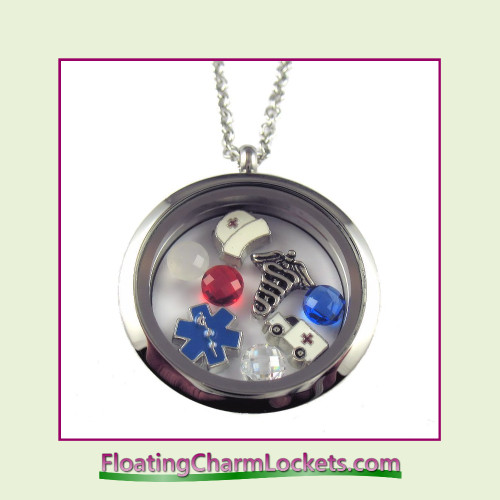 FCL Designs® Nurse Theme Floating Charm Locket