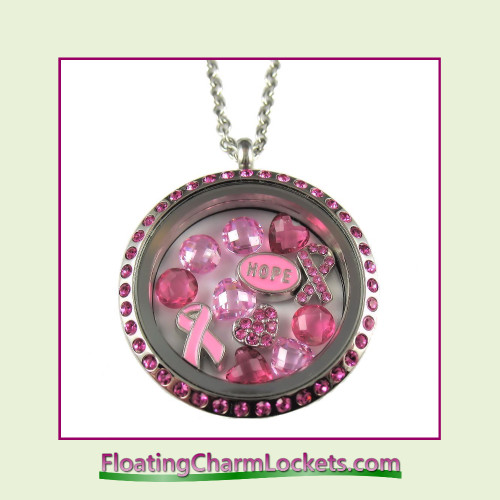 FCL Designs® Breast Cancer Awareness Theme Floating Charm Locket