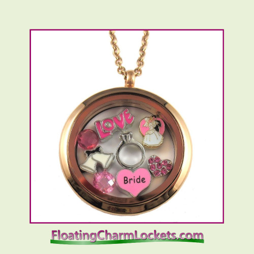 FCL Designs® Bride Theme Floating Charm Locket