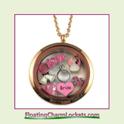 FCL Designs® Bride Theme Floating Charm Locket