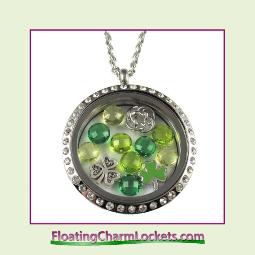 FCL Designs® Celtic Theme Floating Charm Locket