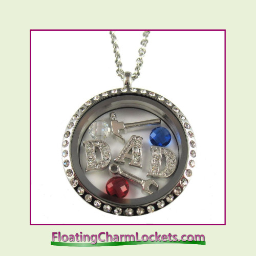 FCL Designs® Father's Day Theme Floating Charm Locket