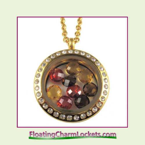 FCL Designs® Fall Crystals Theme Floating Charm Locket