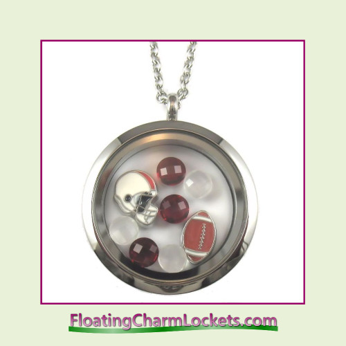 FCL Designs® Arizona Football Theme Floating Charm Locket