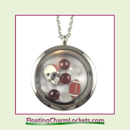FCL Designs® Arizona Football Theme Floating Charm Locket