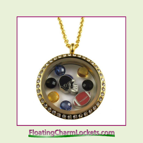 FCL Designs® Baltimore Football Theme Floating Charm Locket