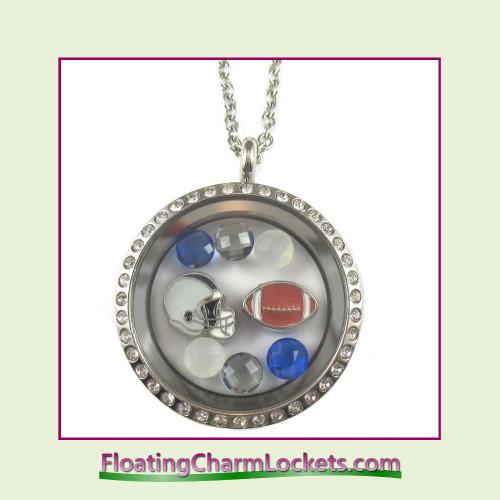 FCL Designs® Dallas Football Theme Floating Charm Locket